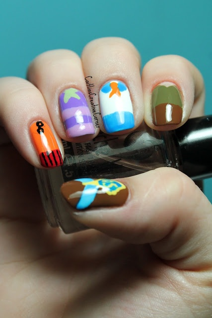 Scooby Doo Nails~ Sister you should paint yours like this!!! Kait could do it!