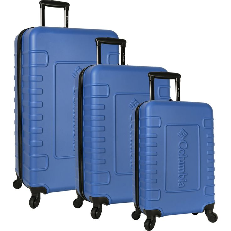 Columbia Crater Peak 3 Piece Hardside Spinner Luggage Set