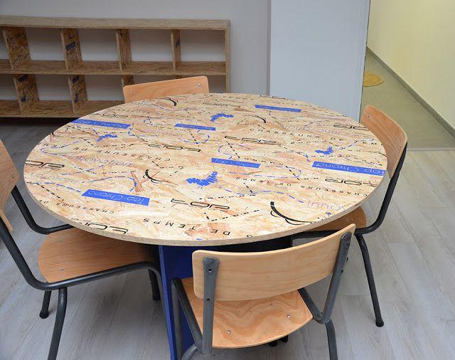 Osb Furniture Round Table En 2020 Osb Table De Reunion Table