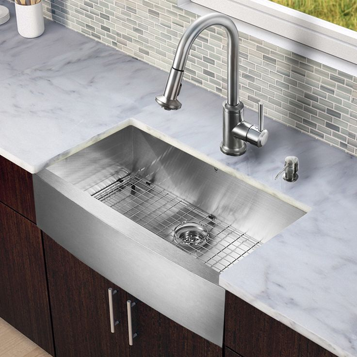 Vigo All-in-one Steel 30-inch Farmhouse Kitchen Sink and Faucet Set | Overstock.com