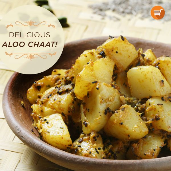 With Navratri in full swing, here's a great Aloo Chaat recipe to curb your cravings: http://bit.ly/1klHgtj  Buy your grocery staples for this recipe on Sangam Direct. #Recipe #Festive #Navratri