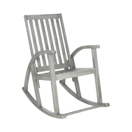 Enjoy the serene sights of your back or front yard from the comfort of this soothing outdoor staple. Crafted from elegant and sustainable acacia wood, the Tiverton Outdoor Rocking Chair is built for lo...  Find the Tiverton Outdoor Rocking Chair, as seen in the The Floating Farmhouse Collection at http://dotandbo.com/collections/the-floating-farmhouse?utm_source=pinterest&utm_medium=organic&db_sku=118189