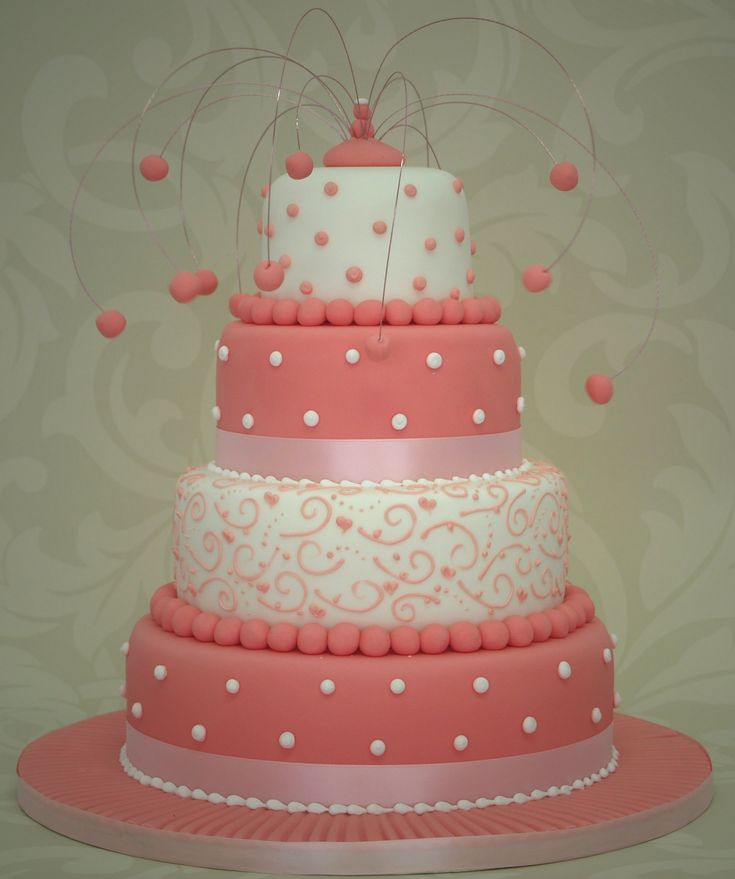 pink and white wedding cake designs white and pink wedding cake designs wedding photos 18560
