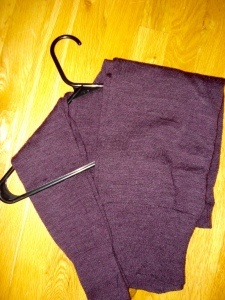 Hang your sweaters! Learned this trick via my sister. No more shoulder bumps!