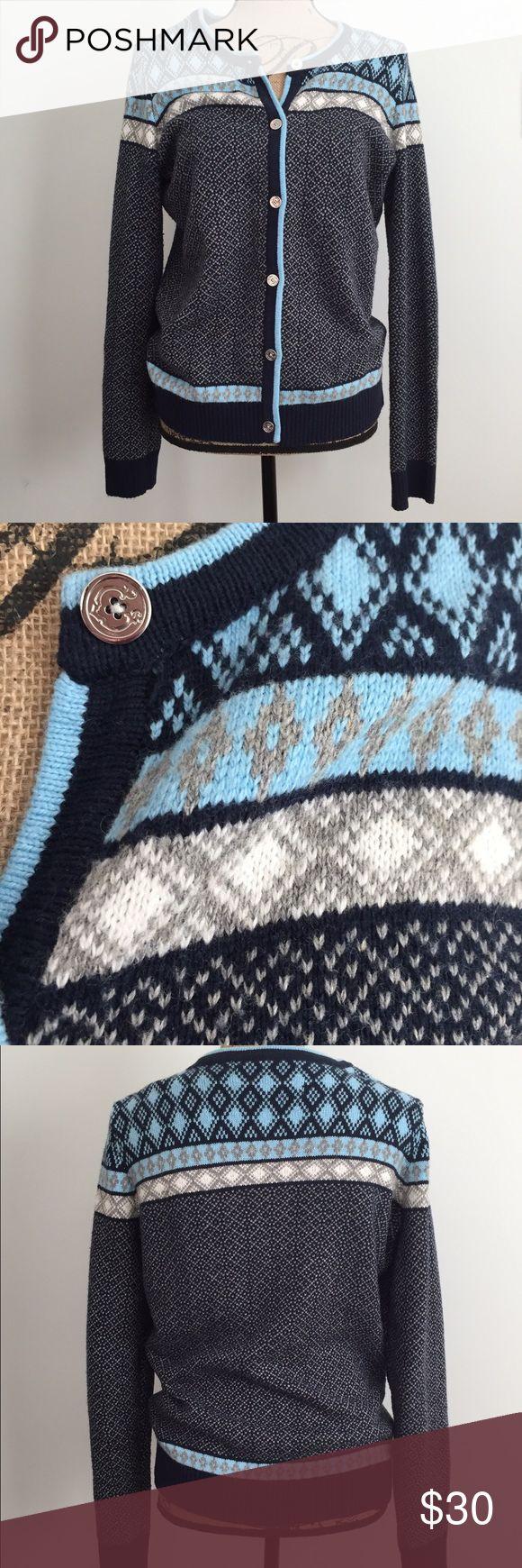 C Wonder Fair Isle Button-up Cardigan C Wonder:  Button up cardigan with fair isle design - beautiful buttons - NEVER WORN C Wonder Sweaters Cardigans