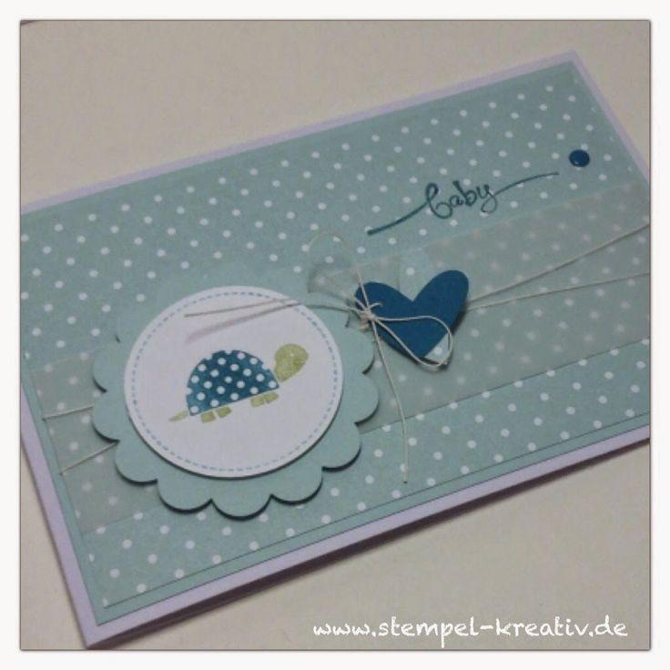 Kreativ Karten gestalten: Eine Babykarte für einen Jungen ...