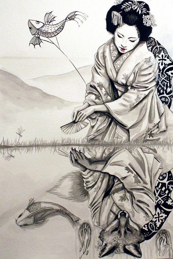 traditional japanese art woman - Google keresés
