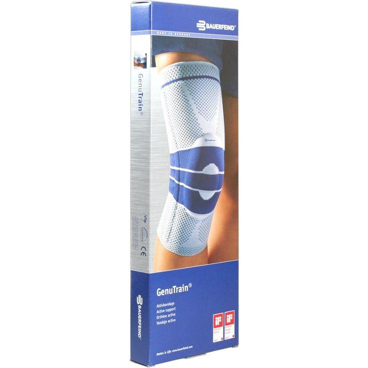 GENUTRAIN Knieband.Grösse 6 natur:   Packungsinhalt: 1 St Bandage PZN: 01285306 Hersteller: Bauerfeind AG / Orthopädie Preis: 54,79 EUR…