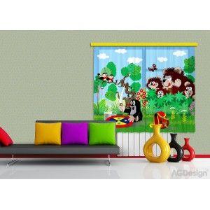 Kisvakondos gyerek függöny, blackout (280 x 245 cm)
