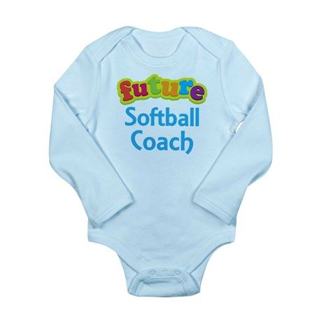 Future Softball Coach Long Sleeve Infant Bodysuit