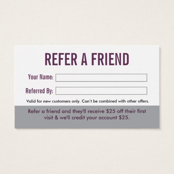 Dentist Referral Business Card Zazzle Com Referral Cards Home Hair Salons Salons