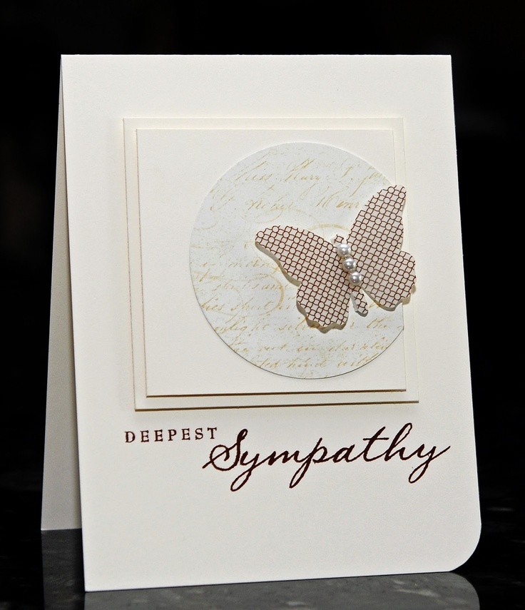 Simple and classic. Like the taupe paired with the white. WaterDots: Deepest Sympathy