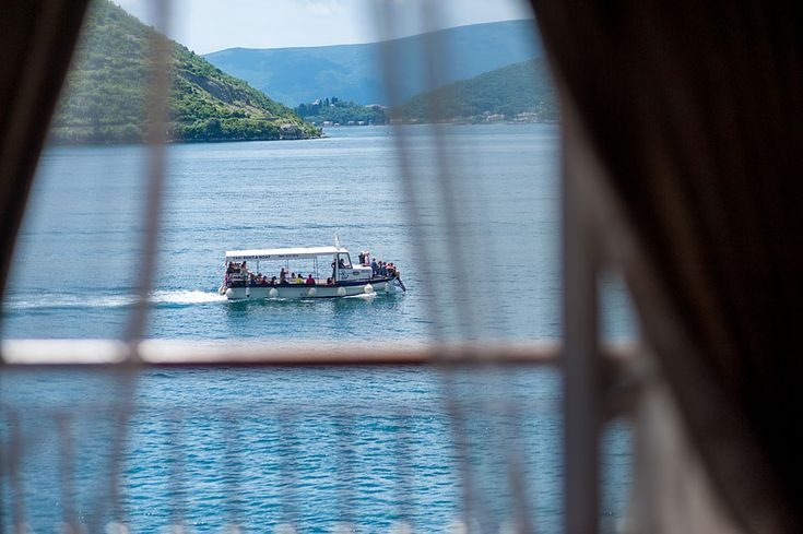 You could wake up to this view at Hotel Conte in Perast. #montenegro #perast #bayofkotor