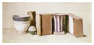 Giorgio Morandi,'Still Life with Cups and Boxes', 1951, (oil on canvas)