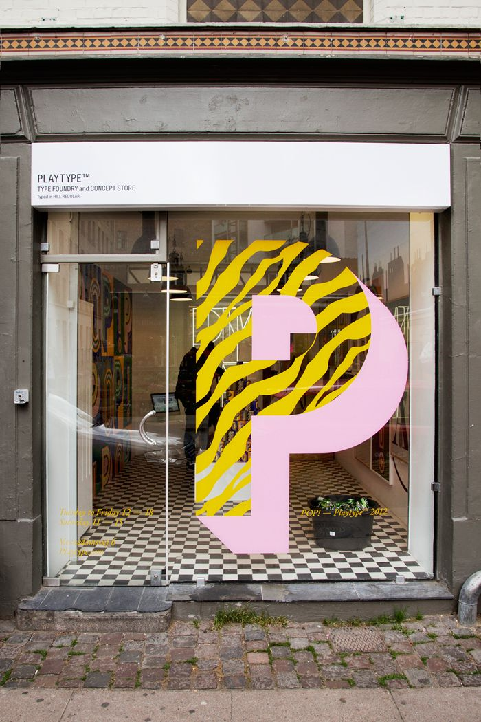 Playtype Store.  This is so cool for a store front window display.  Right away, I can already tell that this company has such an appreciation for their work and their work its very clean and contemporary.