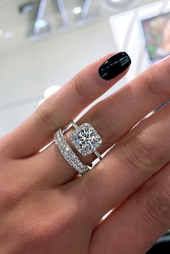 Marriage Rings 36 Great Bands And Wedding For Women That Admire Halo Round Cut Diamond Pave Band See More