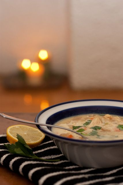 Avgolemono, a Greek lemon-egg soup that you can make with leftover ...