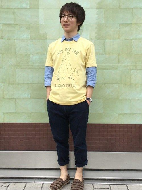 TシャツとYシャツのレイヤード!Tシャツ 重ね着のアイデア