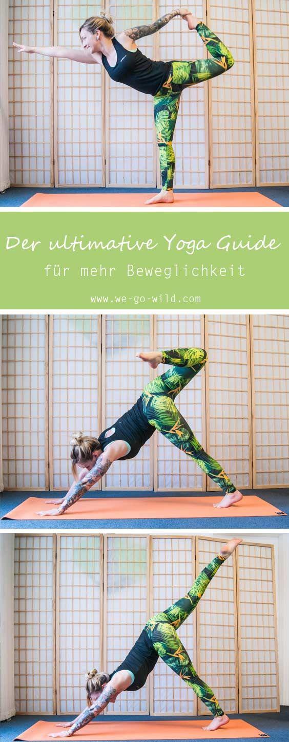 Lust auf mehr Beweglichkeit? Mit Yoga kann man sehr gut beweglicher werden. Die Yoga Übungen sind darauf ausgelegt deinen Körper so beweglich wie noch nie zu machen