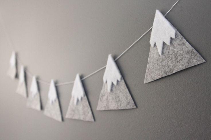 Filz Berg Snowy Peaks Garland, Baby Kinderzimmer u…