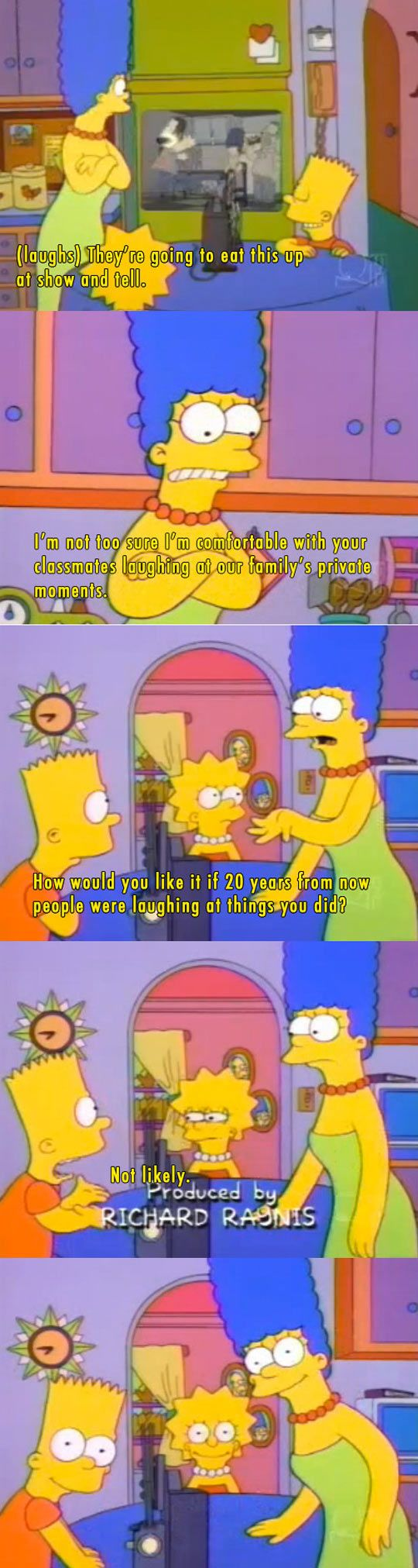 An early 1994 episode from The Simpsons. This always gets me…