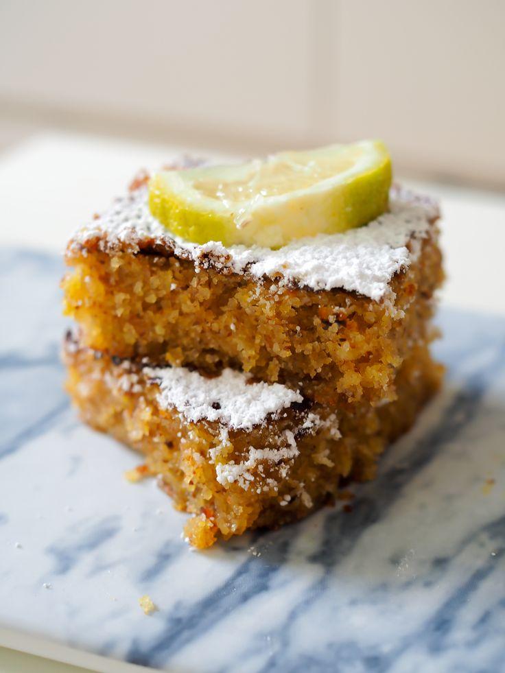 polenta mandel kuchen almond cake lemon syrup glutenfrei glutenfree