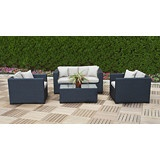 Enjoy the warm weather in style with this Polo Collection 4 Piece Deep Seating Set.