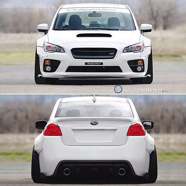 2015 Subaru WRX STi with a widebody. Definitely looks even meaner with that wide stance