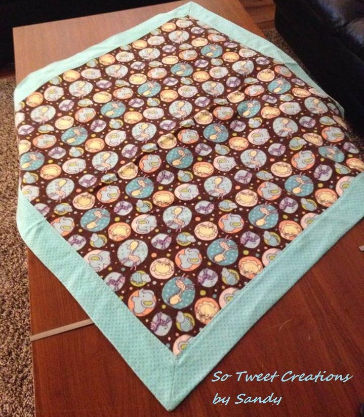 double sided flannel receiving blanket