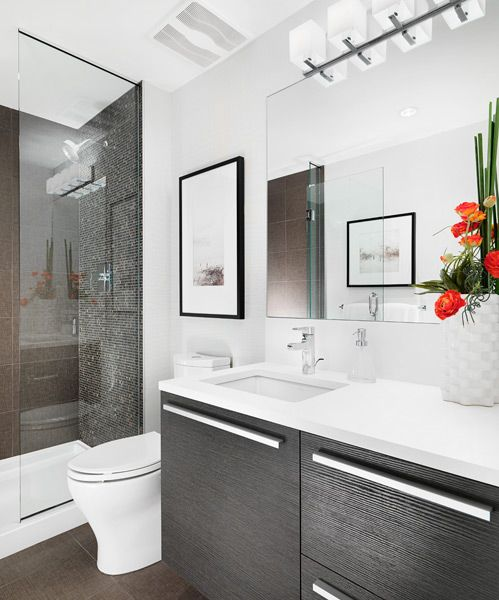 Groovy 17 Best Ideas About Modern Small Bathrooms On Pinterest Modern Largest Home Design Picture Inspirations Pitcheantrous