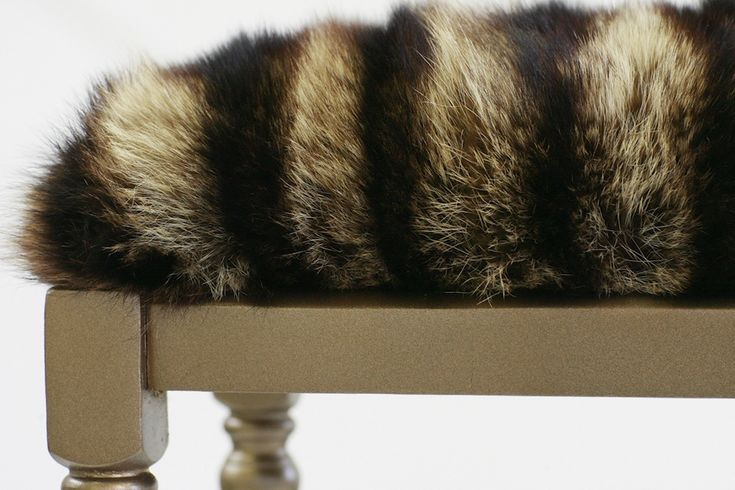 DIY Fur Throw Made Out Of Thriftcycled Fur Coats