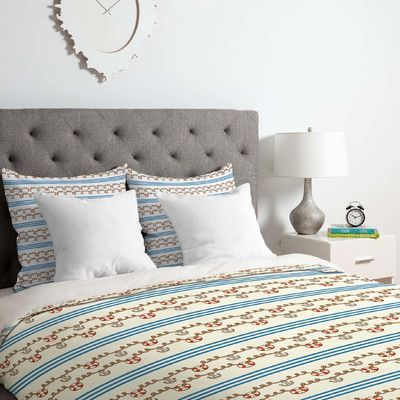 East Urban Home Jennifer Denty Anchor Small Duvet Cover Set Size: Twin/Twin XL