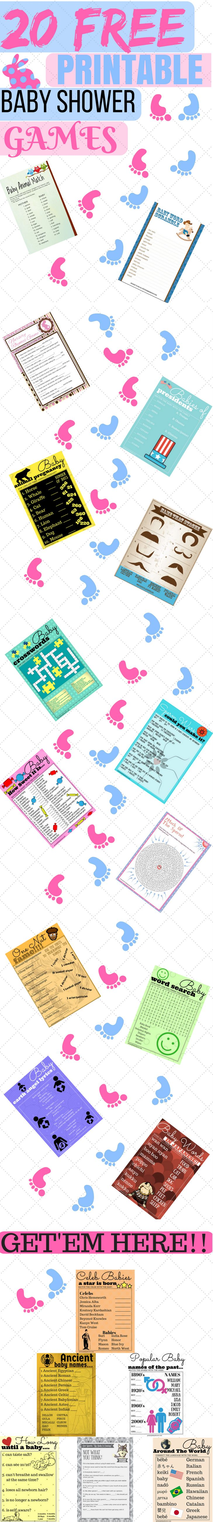 free printable baby shower games | unique baby shower games  at long last we have for you the best printable baby shower games around. The best part is, it's all free. You pay noting.  All you have to do is download them and print them out. Your guests will have an amazing time at your baby shower.