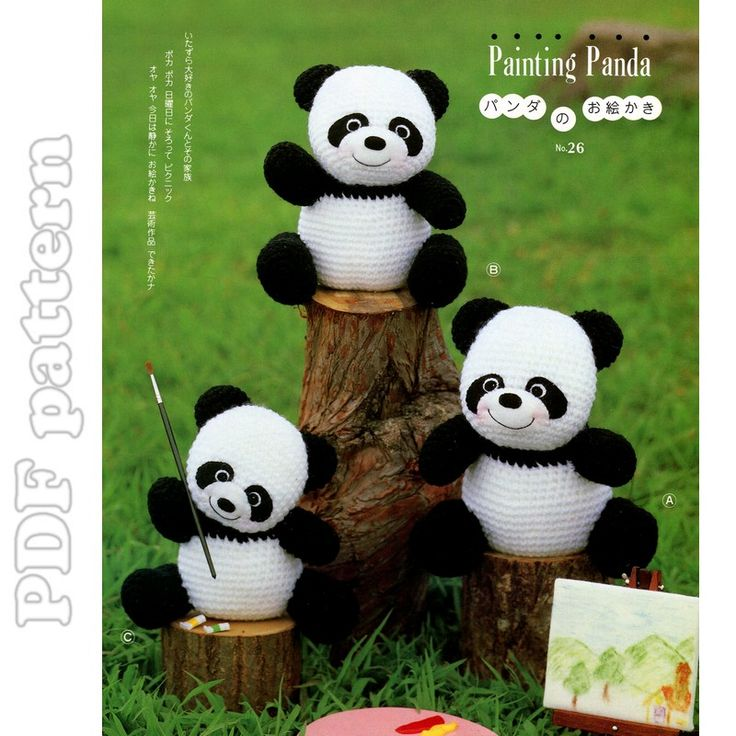 Amigurumi Panda Family Plush Crochet Pattern PDF | CraftyLine e-pattern shop
