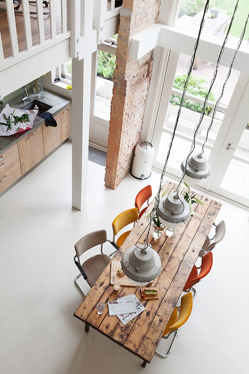 Wooden dining table: