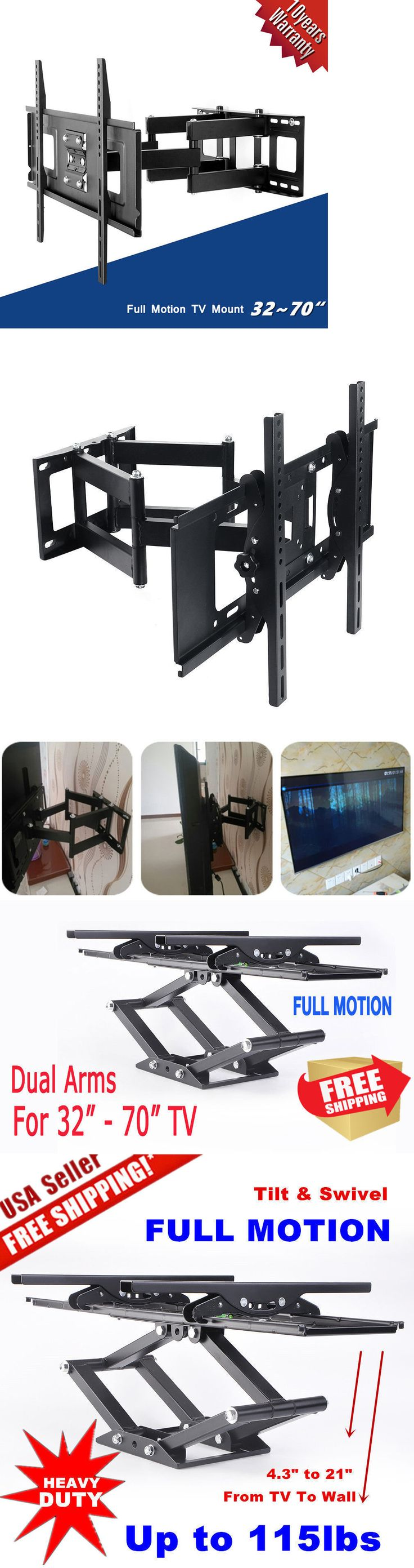 TV Mounts and Brackets: Articulating Swivel Led Lcd Tv Wall Mount Bracket 32 40 42 46 47 50 55 60 65 70 -> BUY IT NOW ONLY: $30.85 on eBay!