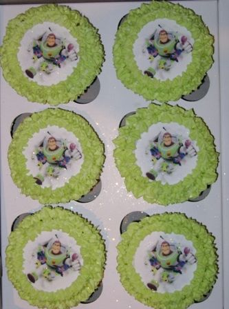 Buzz Lightyear Edible Picture Cupcakes