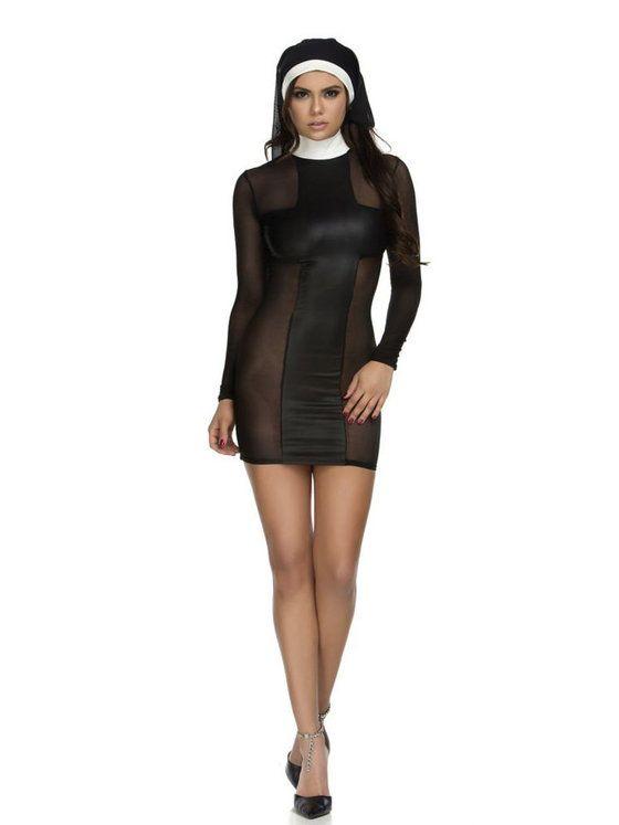 Women's Sexy Pray For Me Nun Costume