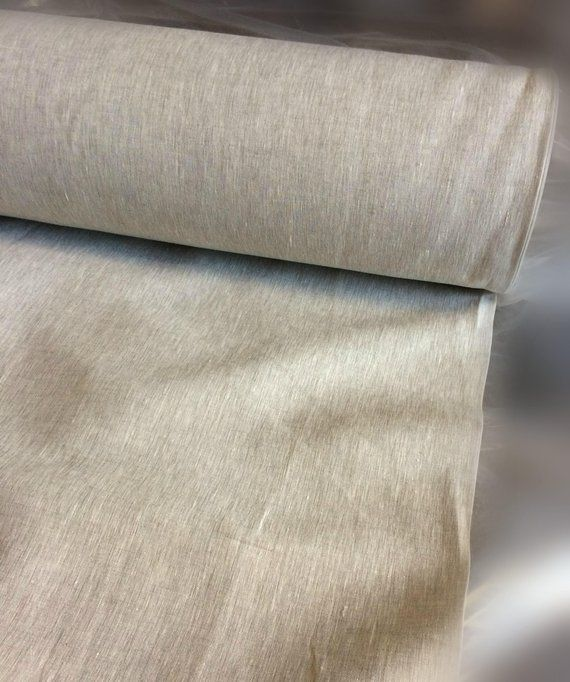 100 Extra Wide Natural Linen Fabric 200g 260cm Width By The Metre Bedding Bedspread Sewing Top Yard