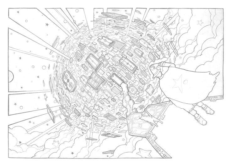 PJ.KIM 미지와의 조우 025 Close Encounters Of The Third Kind 025 pencil on paper 420 x 297