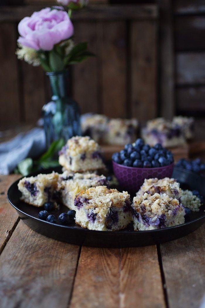 Buttermilch Blaubeer Kuchen - Familienrezept - Buttermilk Blueberry Sheet Cake | Das Knusperstübchen