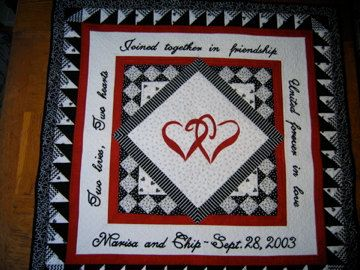 Wedding Quilt by lorysquiltedmemories on Etsy, $350.00    OMG!!!!!! :D  I want this!!!!!  I want it in different colors of course!!!