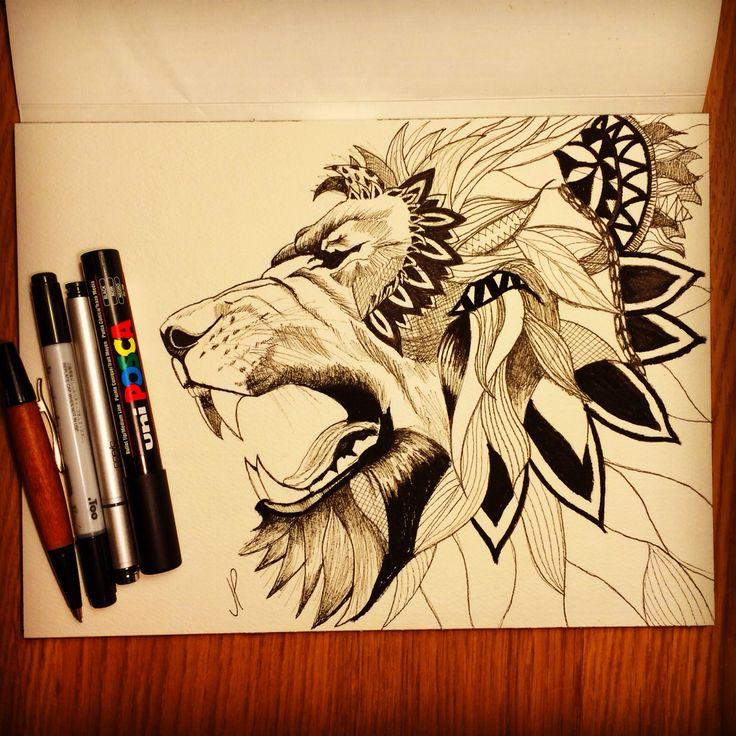 Lion scketch #lion#tattoo