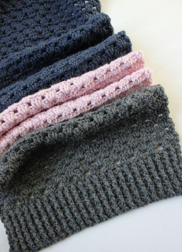 Crochet Granny Stripe Scarf. Free Pattern – Zeens and Roger