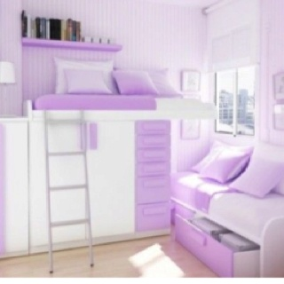 Hmm... Daughter's future bedroom style? I like the window nook for reading and high bed on opposite wall...