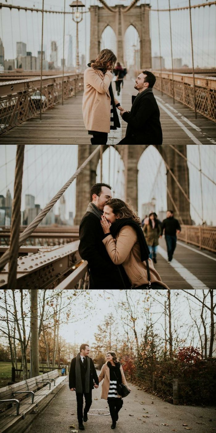 She thought the photographer was joking when she told him to pose on one knee, but it was actually part of his proposal plan!
