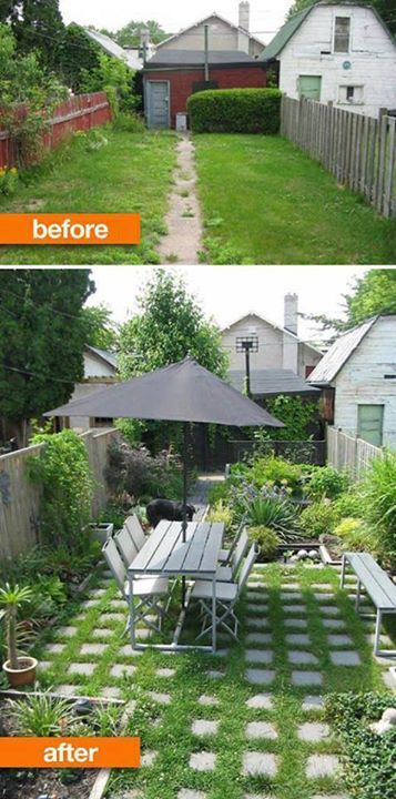 Before and after backyard makeover | jardinage | Pinterest