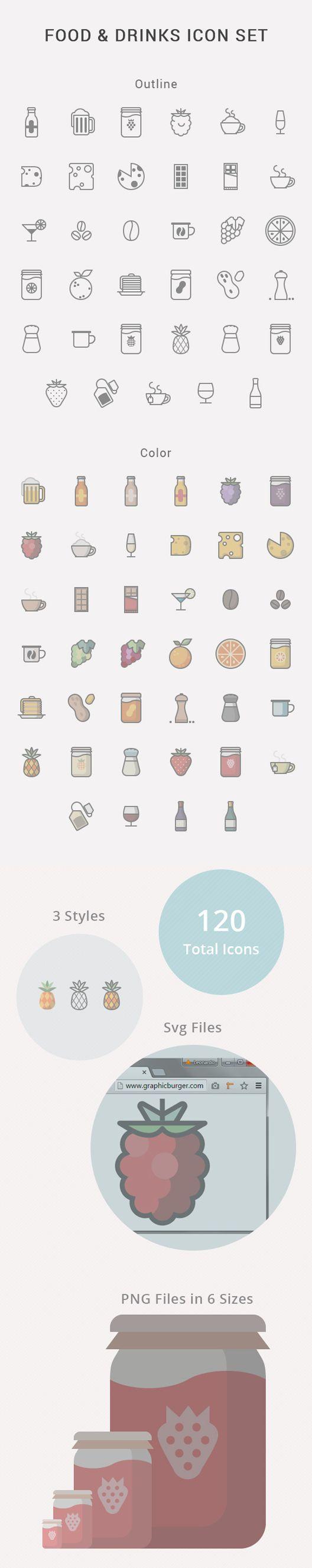음식 음료 아이콘 .AI