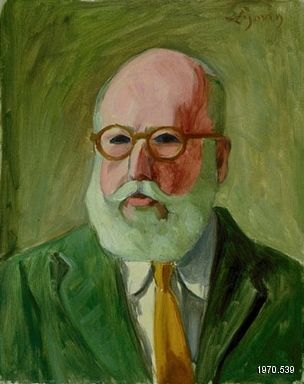 """John Lyman, """"Autoportrait"""", 1960. Huile sur toile, 50,7 x 40,6 cm. Collection MNBAQ."""