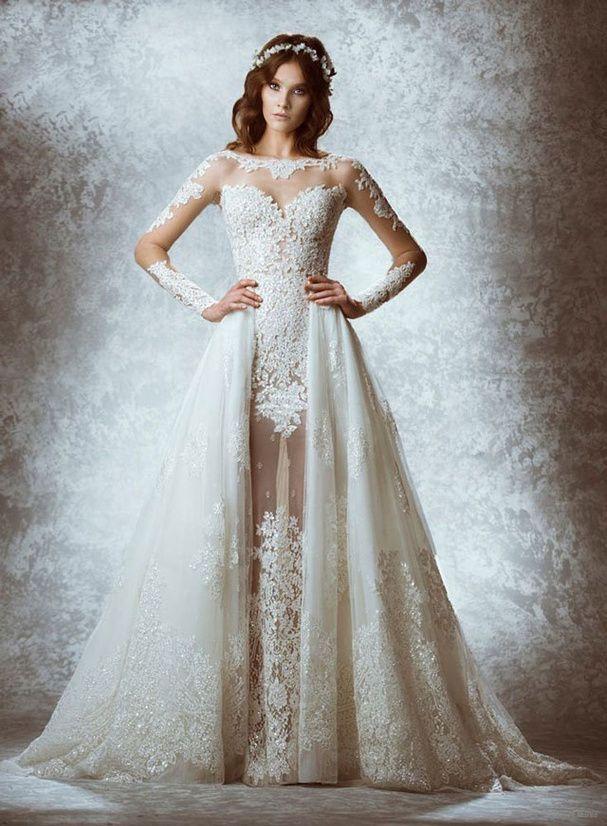 Une robe de mariée à la libanaise